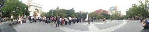 Huddling Masses at Washington Square Park